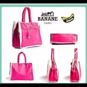Handbags - Banane Taipei Birkin Print Canvas Bag